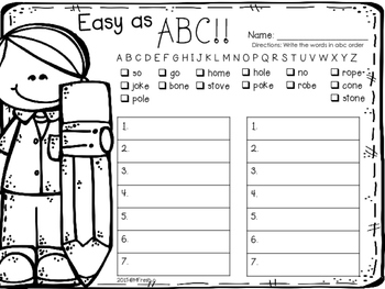 Journeys SPELL IT OUT! #16 Long o Printables & Center Activities