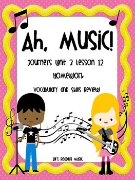 Journeys Second Grade Ah, Music! Homework