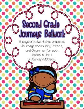 Journeys Second Grade Bellwork (Unit One)