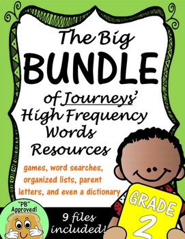 Journeys Second Grade Big BUNDLE of High Frequency Words