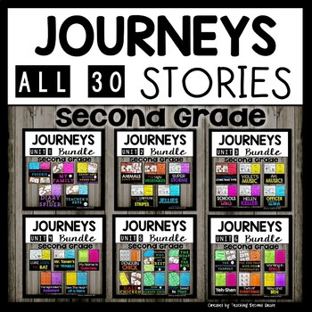 Journeys Second Grade | Bundle | 30 Stories | Teacher's Pets