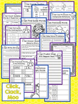 Journeys Second Grade - Click Clack Moo Unit 3 Lesson 11 NO PREP Printables