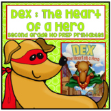 Distance Learning Dex The Heart of a Hero Second Grade NO PREP Printables