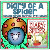 Journeys Second Grade- Diary of a Spider Unit 1 Lesson 4 NO PREP Printables