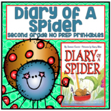 Distance Learning Diary of a Spider Second Grade NO PREP Printables
