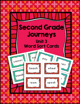 Journeys Second Grade Differentiated Word Sort Cards Unit 3
