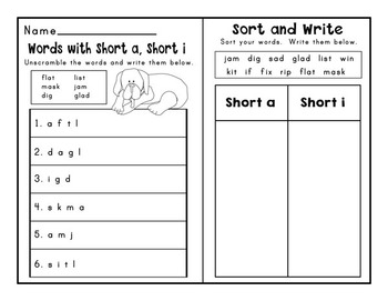 Journeys Second Grade Differentiated Word Sorts Word Work Lesson 1