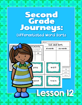 Journeys Second Grade Differentiated Word Sorts Word Work Lesson 12