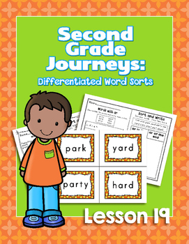 Journeys Second Grade Differentiated Word Sorts Word Work Lesson 19