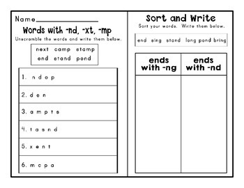 Journeys Second Grade Differentiated Word Sorts Word Work Lesson 6