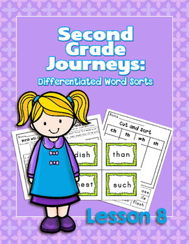 Journeys Second Grade Differentiated Word Sorts Word Work