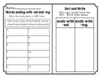 Journeys Second Grade Differentiated Word Sorts Word Work Lesson 9