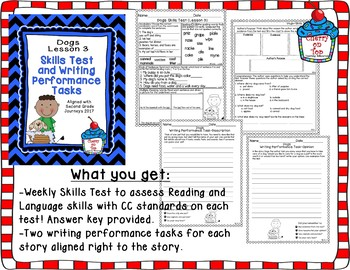 Journeys Second Grade- Dogs Test and Writing Tasks