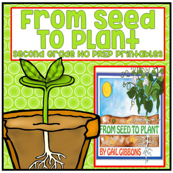 Journeys Second Grade - From Seed to Plant Unit 5 Lesson 25 NO PREP Printables