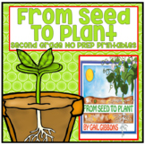 From Seed to Plant Second Grade NO PREP Supplemental Printables
