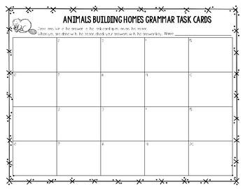 Journeys Second Grade Grammar Task Cards (Unit Two)