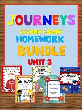 Journeys Second Grade Homework Unit 3 Bundle