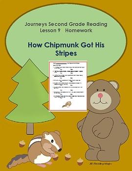 Journeys Second Grade How the Chipmunk Got His Stripes True/False Activity