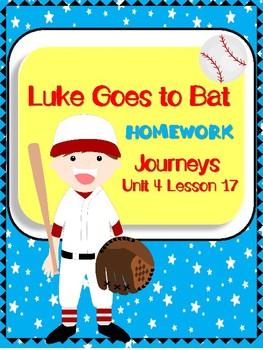 Journeys Second Grade Luke Goes to Bat Homework