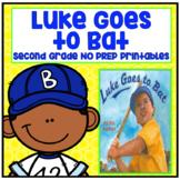 Journeys Second Grade - Luke Goes to Bat Unit 4 Lesson 17 NO PREP Printables
