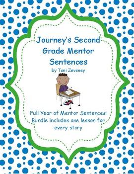Journeys Second Grade Mentor Sentences Bundle