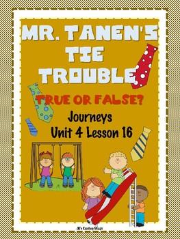 Journeys Second Grade Mr. Tanen's Tie Trouble True or False