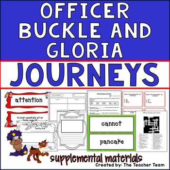 Officer Buckle and Gloria Journeys Second Grade Unit 3 Lesson 15 Activities