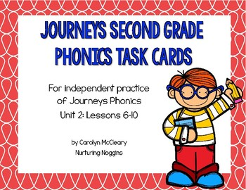 Journeys Second Grade Phonics Task Cards (Unit Two)