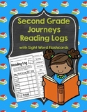 Journeys Second Grade Reading Log with Sight Word Flash Cards