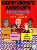 Journeys Second Grade Signmaker's Assistant Homework