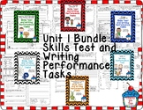 Journeys 2nd Grade- Unit 1 Bundle Skills Tests and Writing Tasks
