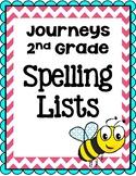 Journeys Second Grade Spelling Lists
