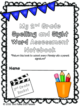 Journeys Second Grade Spelling and Sight Word Assessment Data Notebook