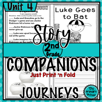 Journeys SECOND Grade Story Companions:  Unit FOUR