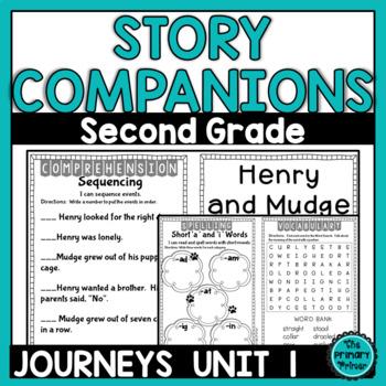 Journeys SECOND Grade Story Companions:  Unit ONE