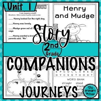 Journeys SECOND Grade Story Companions:  Unit ONE