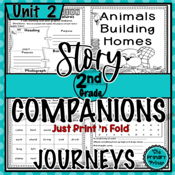 Journeys SECOND Grade Story Companions:  Unit TWO