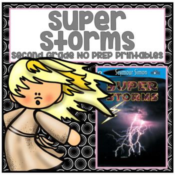 Journeys Second Grade- Super Storms Unit 2 Lesson 8 NO PREP Printables