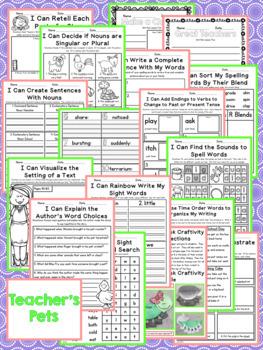 Journeys Second Grade- Teacher's Pets Unit 1 Lesson 5 NO PREP Printables