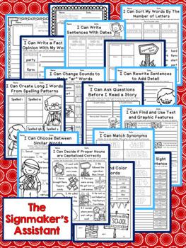 The Signmaker's Assistant Second Grade NO PREP Supplemental Printables