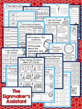 The Signmaker's Assistant Second Grade NO PREP Supplemental Printables