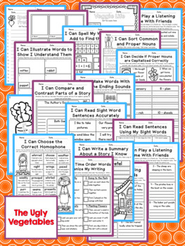The Ugly Vegetables Second Grade NO PREP Supplemental Printables