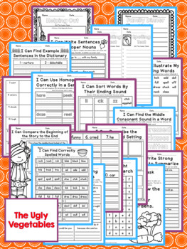 The Ugly Vegetables Second Grade NO PREP Supplemental Printables