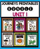 Journeys Second Grade | Unit 1 | Bundle | Teacher's Pets