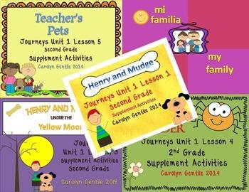 Journeys Second Grade Unit 1 Bundle 2012 Version