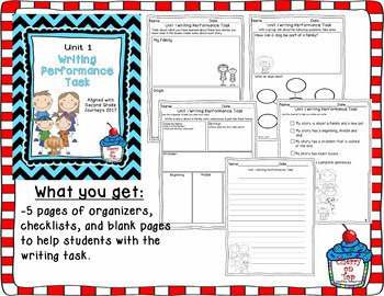 Journeys Second Grade- Unit 1 Writing Performance Task