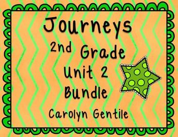 Journeys Second Grade Unit 2 Bundle 2012, 2014, 2017