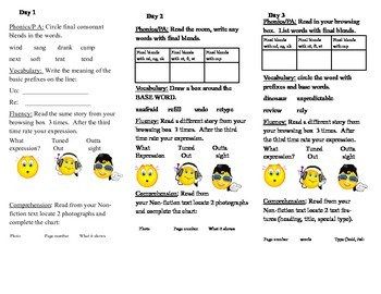 Journeys, Second Grade, Unit 2, Lesson 6, Literacy  Assignment