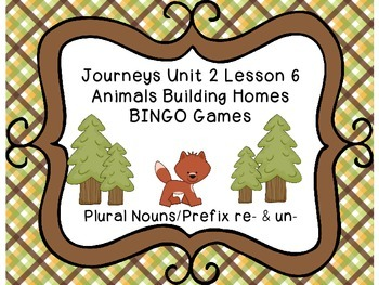 Journeys Second Grade Unit 2 Lesson 6 BINGO Games
