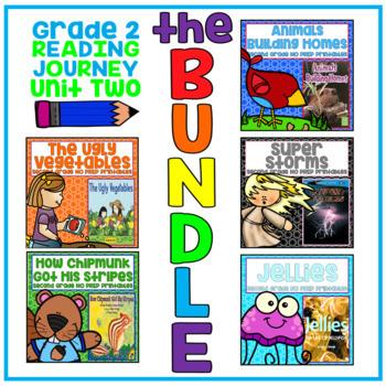 Take a Reading Journey Grade 2 - Unit 2 NO PREP Printable BUNDLE (Lessons 6-10)
